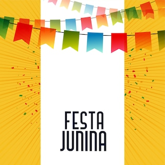 Latin american festa junina celebration background