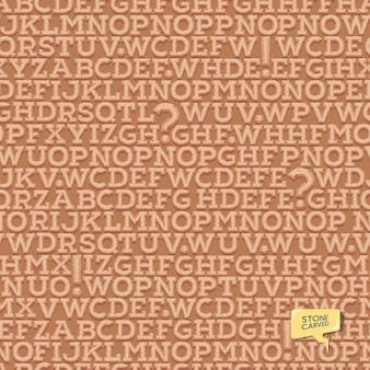 Латинский античный шрифт. шаблон букв. бесшовные текстуры.