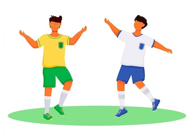 Latino boys in sportswear characters