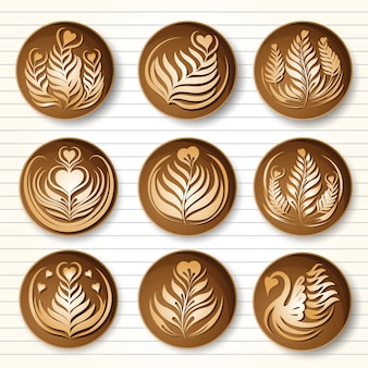 Latte art coffee