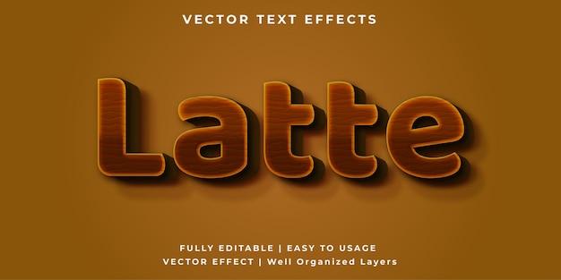 Латте векторный текстовый эффект