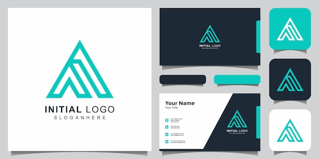 Latter a logo with business card