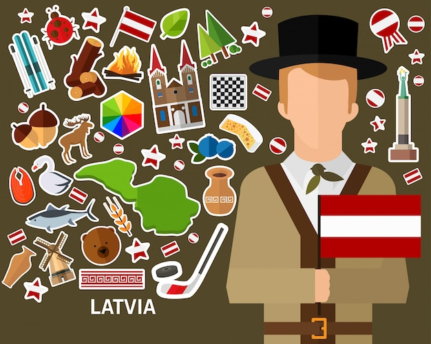 Latvia concept background