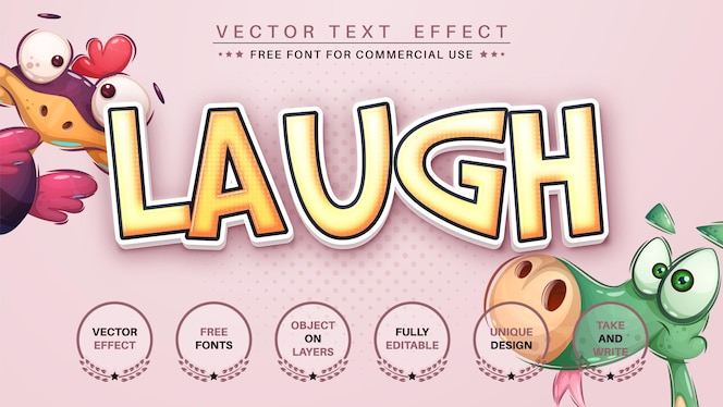 笑い紙編集テキスト効果編集可能なフォントスタイル