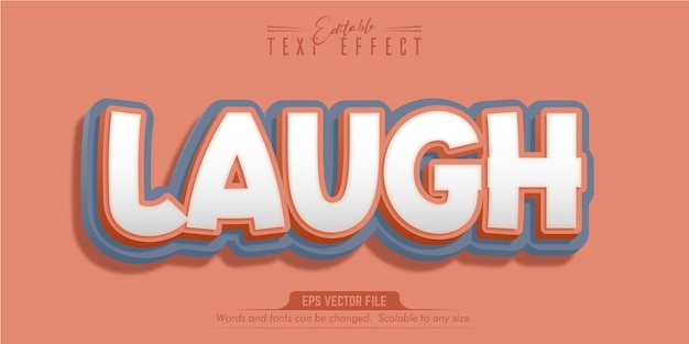 Laugh text, cartoon style editable text effect