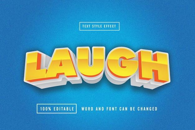 Laugh text effect editable