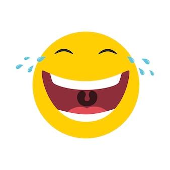喜びの涙で笑うエモティコン