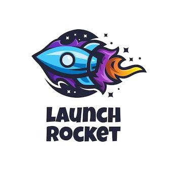 Launch rocker logo simple illustration template