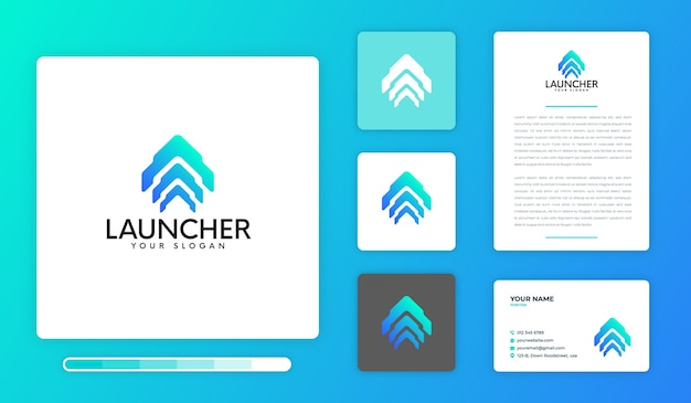 Launcher logo design template