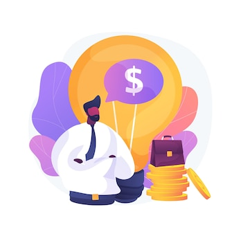 Launching startup project. innovative ideas, creative businessman, profitable company. top manager, successful entrepreneur offering business plan. vector isolated concept metaphor illustration