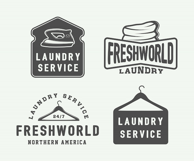Laundry, cleaning emblems
