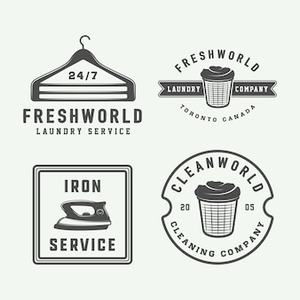 Laundry, cleaning logos