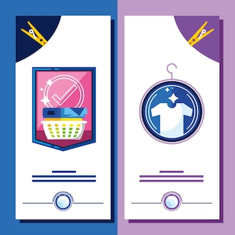 Laundry clothes banner