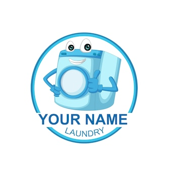 Laundry design logo