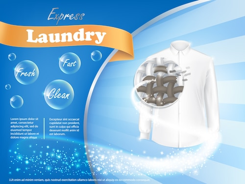Laundry detergent advertising poster