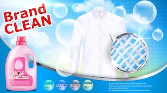 ランドリー洗剤広告ポスター