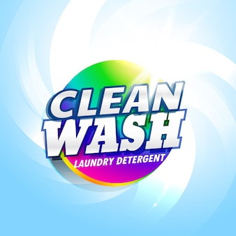 세탁 세제 및 비누 제품 포장 컨셉 디자인 서식 파일