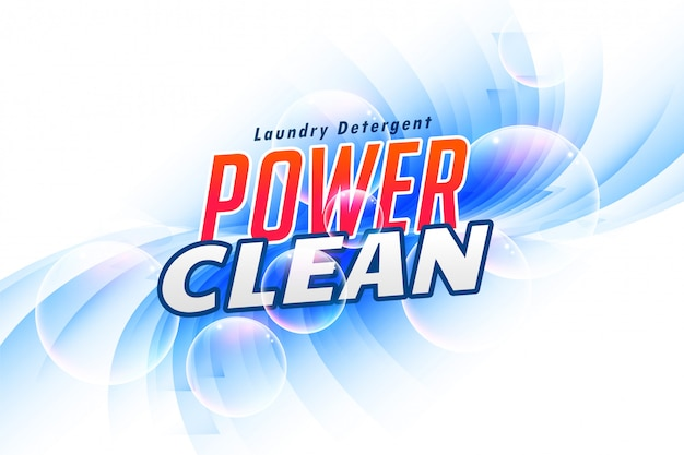Laundry detergent packaging for power clean