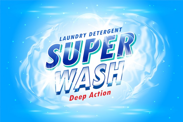 Laundry detergent packaging for super wash