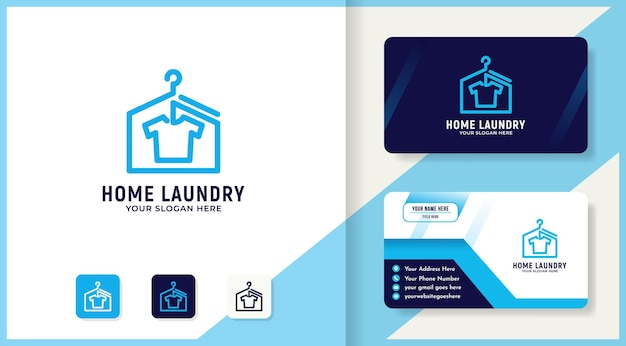 Laundry house logo design and business card