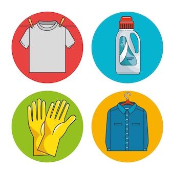 Laundry icon set