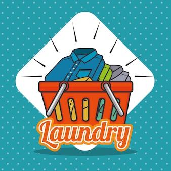 Laundry logo emblem badge