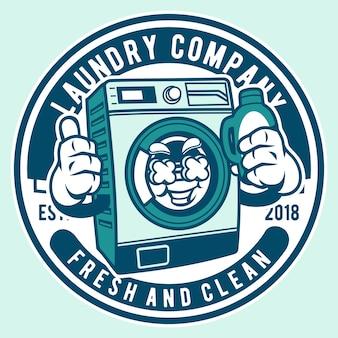 Laundry mascot cartoon