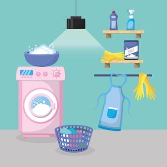 Laundry room interior