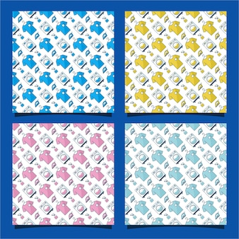 Laundry seamless pattern design collection