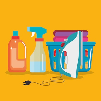 Laundry service set products