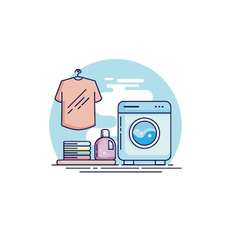 Laundry time with new washing machine