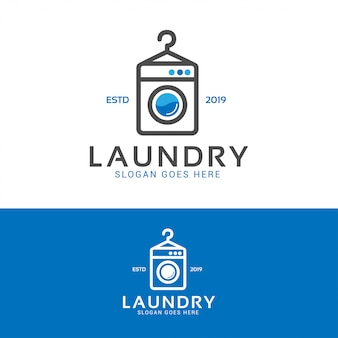 Laundry wash machine logo