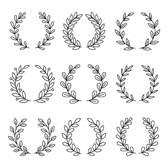Laurel wreath award icons