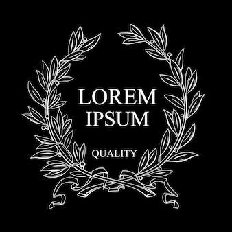 Laurel wreath for emblem