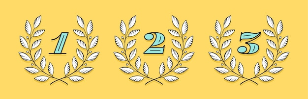 Laurel wreath icon with number