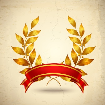 Laurel wreath realistic