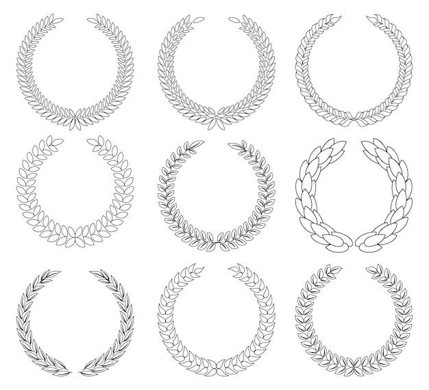Laurel wreath - symbol of victory and achievement.