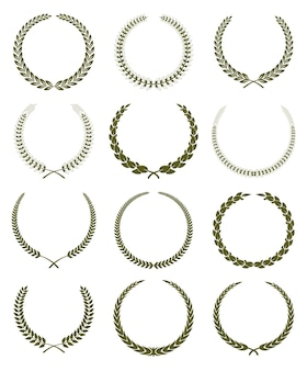 Laurel wreathes set