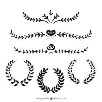 Laurel wreaths and dividers