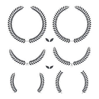 Laurel wreaths retro vintage premium quality  illustration
