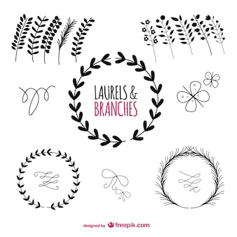 Laurels graphic elements