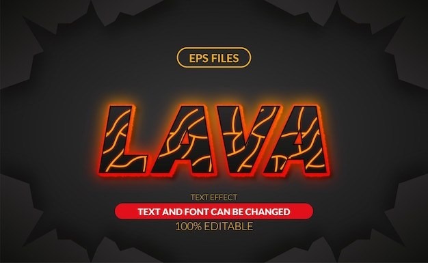 Lava flame glow fire editable text. eps vector file glow heat hot