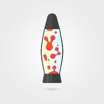 Lava lamp with shadow