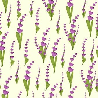 Lavender background seamless pattern