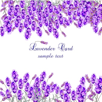 Lavender card template