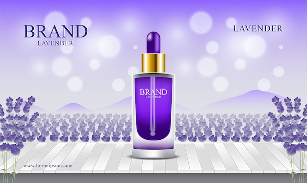 Lavender fields wooden floors background  perfume