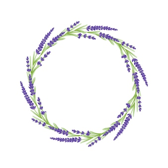 Lavender flowers floral wreath