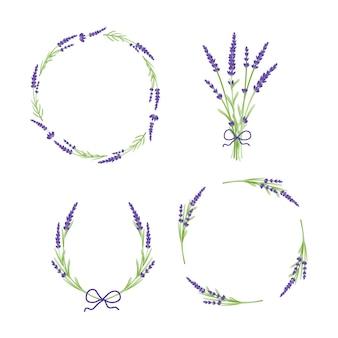 Lavender flowers floral wreath