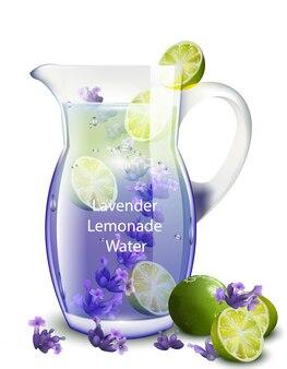 Реалистичный вектор лимонада лаванды