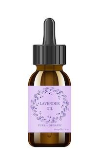 Lavender oil in glass jar.